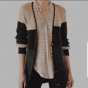 Free people button up cardigan sweater size XS